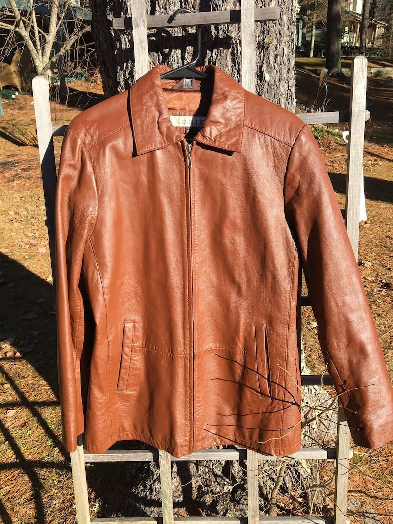 f6929416dc8 Vintage 1990s Excelled Brown Leather Jacket Mens M