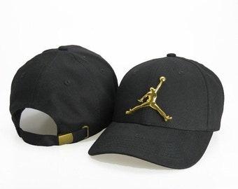 7f2b8d9b45a Black & Gold air jordan baseball cap