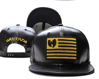 881dd8f764dfa Brand New original Black leather Wu Tang Snapback