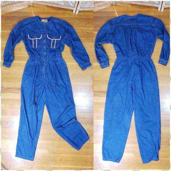 Vintage Liz Claiborne - Denim Jumpsuit - Blue Jean