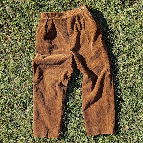 Vintage 60s 70s Corduroy Trousers - Fully Lined Co