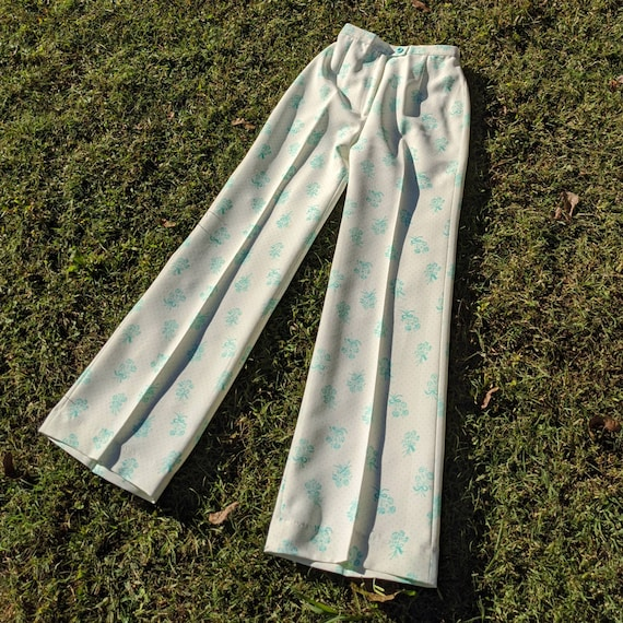 Vintage 70s Flared Pants - 70s Bell Bottoms - Vint
