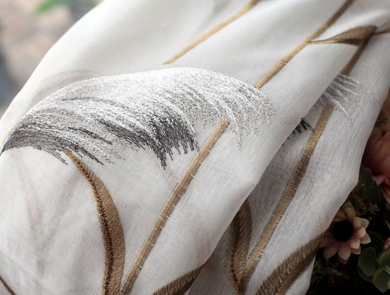living room and bedroom sheer curtain, Custom modern sheer Curtains\uff0cfloral sheer