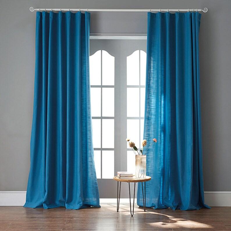 9 colors plain curtain custom linen cotton curtain bedroom curtain,summer curtain living room drapes custom size