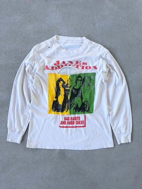 Vintage 90s Janes Addiction Bad Habits LS Tee