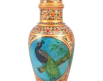 Antique Peacock Vase Etsy