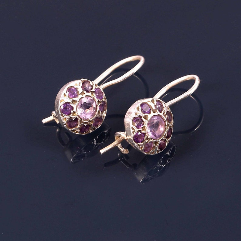 Party wear Amethyst earring once in a lifetime elegant look anniversary special