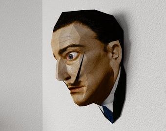 3D Paper Craft Low Poly Object Art Doll Model Pattern DIY - Salvador Dali