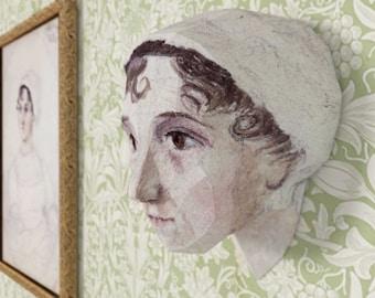 3D Paper Craft Low Poly Object Art Doll Model Pattern DIY - Jane Austen - Pride and Prejudice
