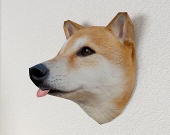 3D Paper Craft Low Poly Object Art Doll Model Pattern DIY - SHIBA INU Dog