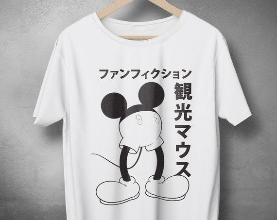 b922b628 ... $19.90 Funny Japanese Mickey Mouse t shirt design, Japanese Anime Hero,  Modern Japanese print,