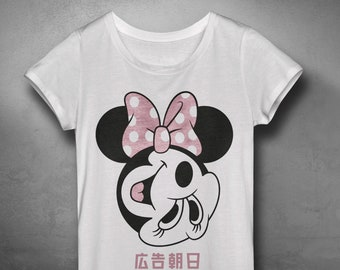 e8f37a9f Funny Japanese Mickey Mouse t shirt design, Japanese Anime Hero, Modern  Japanese print, Contemporary Art from Japan,