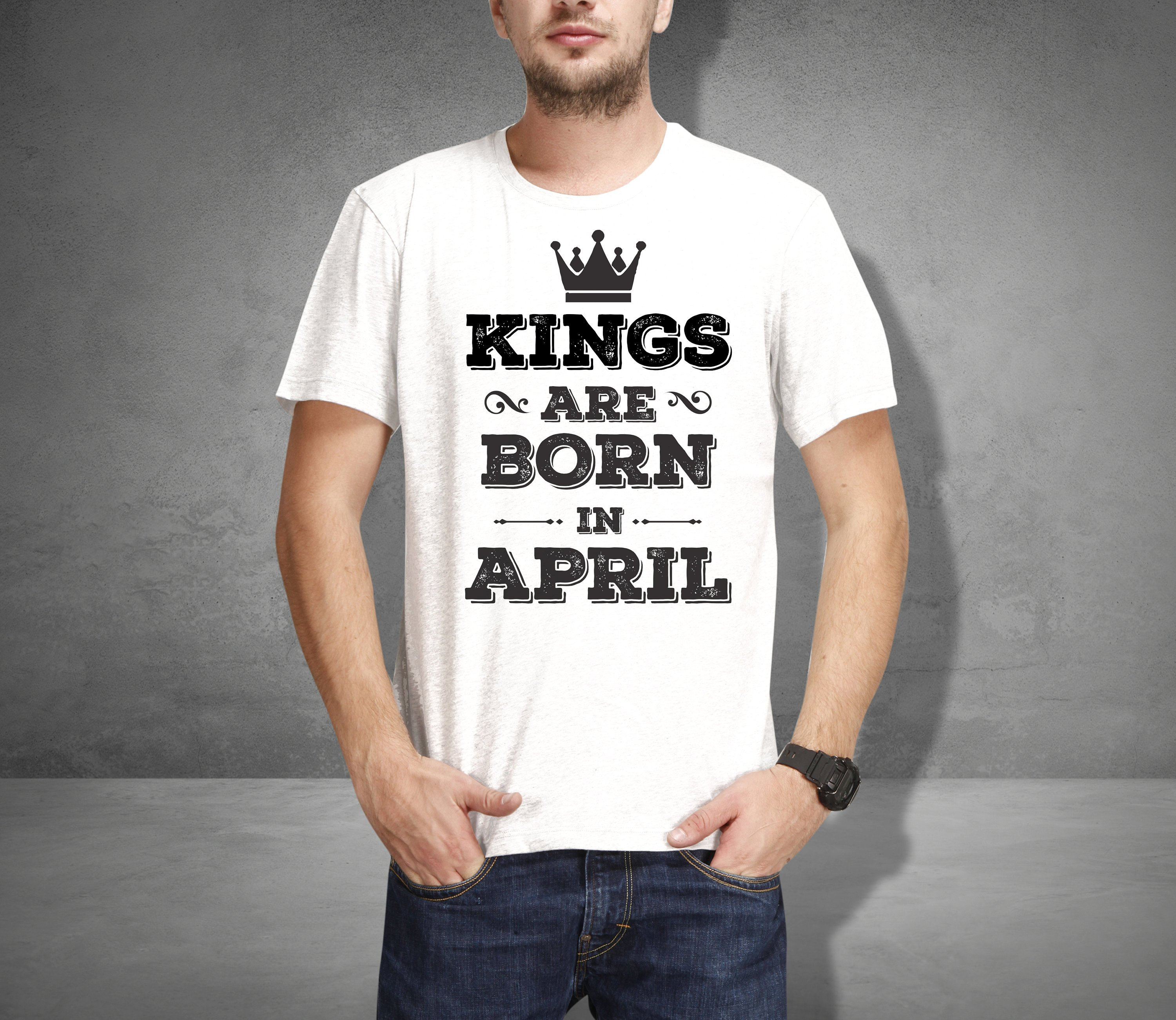 d6439ee30 Kings are born in April t shirt, ARIES ZODIAC birthday gift born in April,  Aries star sign horoscope design prints, Taurus birthday gift