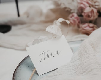 Place card, place cards calligraphed, 10 pieces