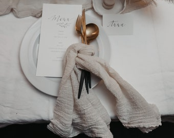 Cotton napkins 100% natural
