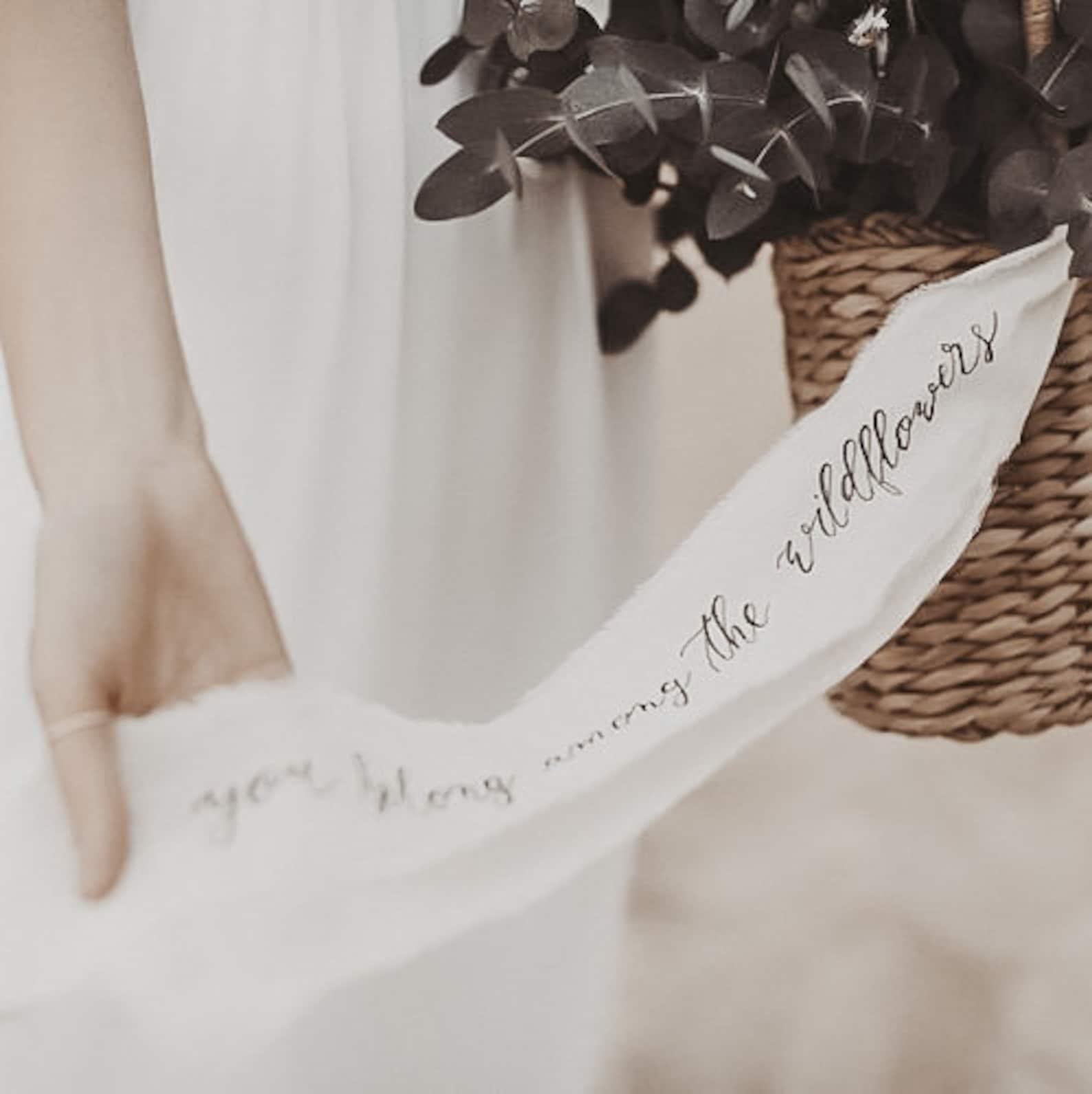 Brautstrauß Band personalisiert