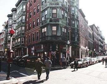 11x14. North End Boston. Boston Photography. Street Photography. North End Photography. Boston Print. North End Print. Boston Lovers.