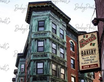 10x8. Bova's Bakery. Boston Photography. Boston North End Print. North End. Travel Photography. Kitchen Wall Art.