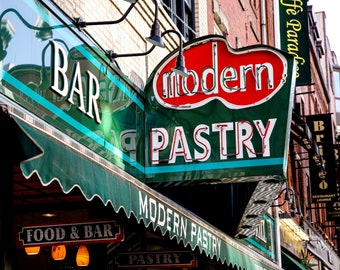 14x11. Modern Pastry. North End. Boston Photography. Boston Photography. Boston Wall Art. Kitchen Wall Art. Boston Lovers