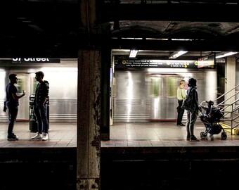 10x8. New York City. NYC. Subway. Street photography. NYC photography. Travel Print. Street Print. Wall Art. Office Wall Art. Bathroom Art.