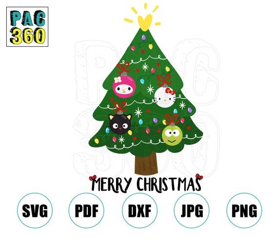 Hello Kitty Christmas Tree.Hello Kitty Christmas Tree Svg