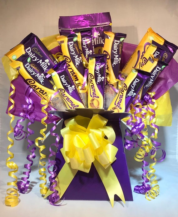 Cadbury Dairy Milk Caramel Chocolate Bouquet Luxury Etsy