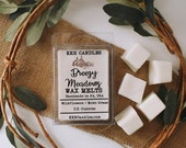 Breezy Meadows Wax Melts Wax Tarts Candle Warmer Melts Wax Cubes Fresh Cut Grass Wildflowers Spring Scent Earthy Scent