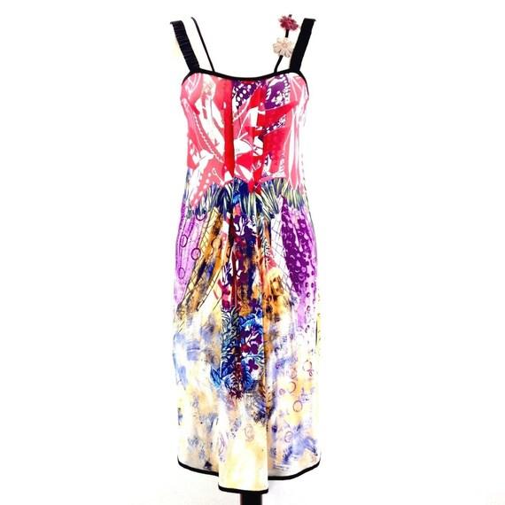 SAVE THE QUEEN multicolor floral dress, floral app