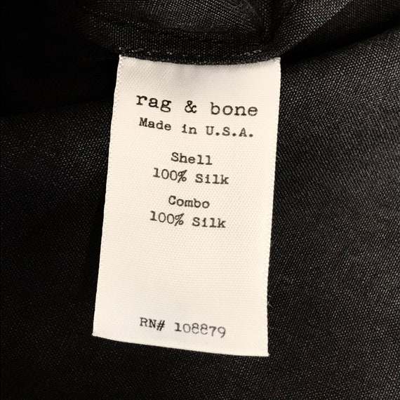 Rag and Bone black silk top, size 4 - image 10
