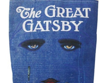 Great Gatsby Tote Bag Lovely embroidered silhouette tote bag. F Scott Fitzgerald/'s quote Show me a HERO and I/'ll write you a TRAGEDY