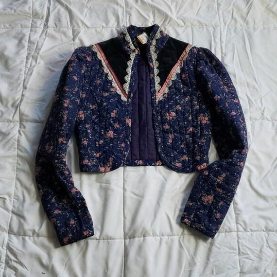 Gunne Sax Vintage Quilted Prairie Jacket - image 2