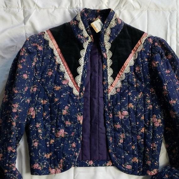 Gunne Sax Vintage Quilted Prairie Jacket - image 3