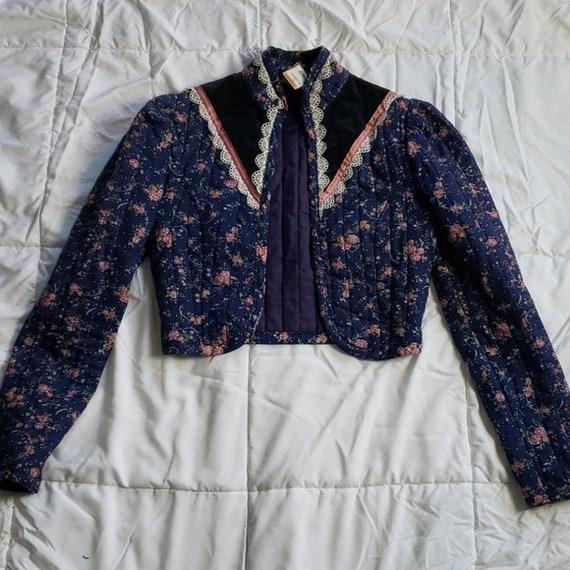 Gunne Sax Vintage Quilted Prairie Jacket - image 1