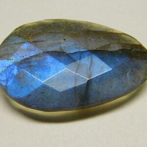 Labradorite Green Flashy Fire Oval Cut Size 18x25x9 mm Loose Both Side Faceted Gemstone Oval Semiprecious Cut Gemstone.