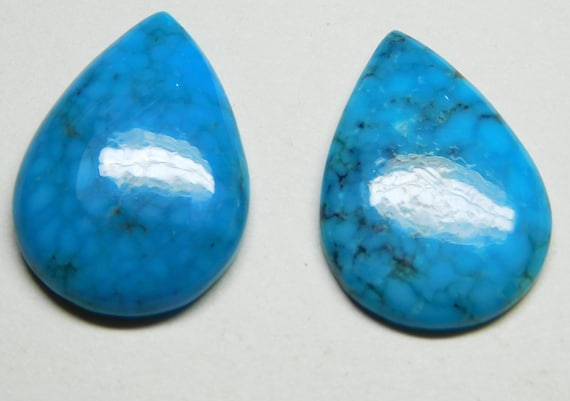 Turquoise Gemstone Turquoise Stone For Making Jewelry 10.20 Cts Turquoise Cabochon Pear Shape 13x29mm Gemstone Turquoise Cabs