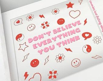 Positivity Mirror, Mirror Affirmation, Vinyl Sticker, Vinyl Decal, Mirror Sticker, Positive Affirmation