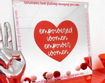 Empowerment Mirror, Mirror Affirmation, Vinyl Sticker, Vinyl Decal, Mirror Sticker, Positive Affirmation