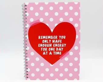 dotted heart Positive Quote A5 Ring bound, Notebook, School Supplies, Sketchbook, Notepad, Bullet Journal, Stationery, Student Gift