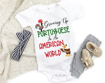 I LOVE MUMMY Mother Portuguese Themed Baby Grow Suit Mum Portugal