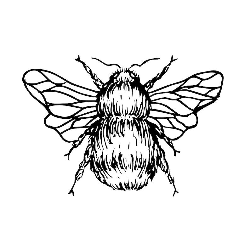 Honeybee Tattoo Design 3   Etsy