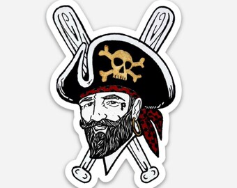 70s Pirates Logo Sticker