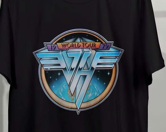63a6a8ad7c52 Van Halen T-Shirt 79 David Lee Roth 2-Side Unisex Clothing