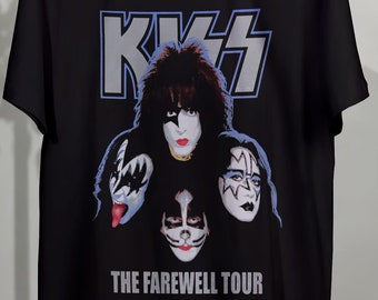 KISS embroidered logo back patch hard rock simmons stanley criss frehley carr
