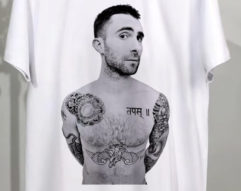 ec6342a4 Adam Levine T Shirt, Maroon 5 Shirt, Maroon 5 Tee, Adam Levine Chest Tattoo  Unisex Clothing