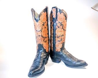 c19bc050e46 Larry mahan boots | Etsy