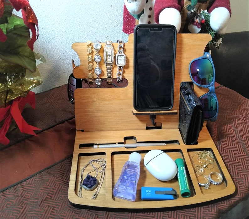 Wooden Desktop Organizer and Docking Station