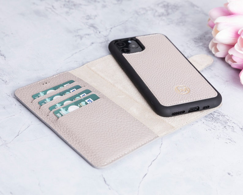iPhone 11 Pro Max 6.5 Magnetic Detachable Wallet Case for iPhone 11 Pro Max with Card /& Cash Slots and Kickstand Best Leather Wallet Case