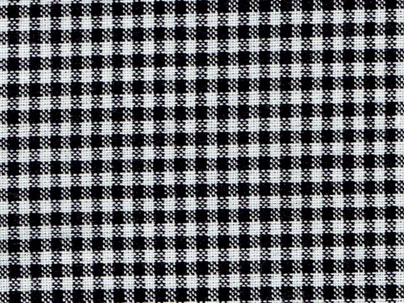 1/2 Yard Warp  Weft 2  Premium Yarn Dye Black & White Mini image 0