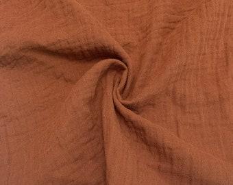 "1/2 Yard Organic Cotton Double Gauze - Cinnamon Cotton 100% 52"" Wide"
