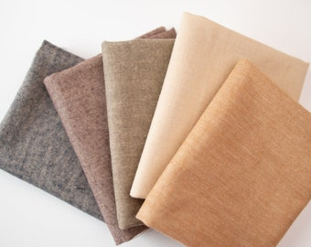 """1/2 Yard Brushed Cotton - Homemade Homespuns SOLIDS by Moda 44"""" Wide"""